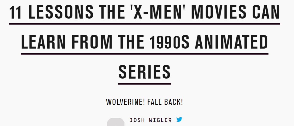 11 lessons movies can learn from cartoon xmen josh