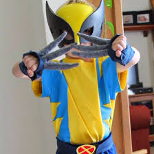 child young homemade wolverine costume cosplay