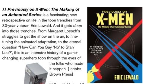 Animation Magazine Prev on Xmen Stuff We Love 01 december 2017